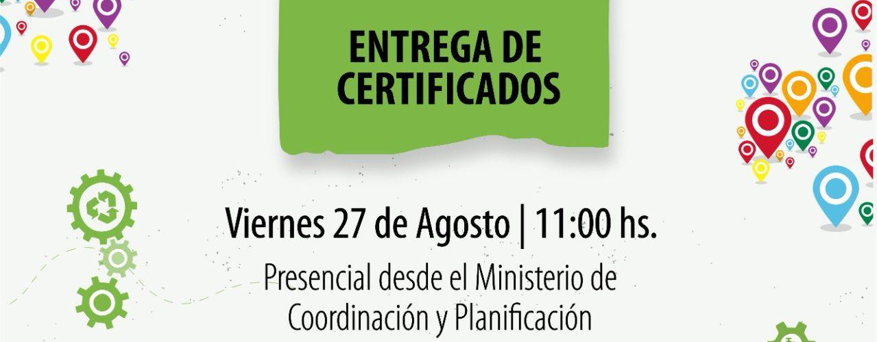 27/08 – Acto de entrega de Premios y certificados Curso de Emprendedores Sustentables